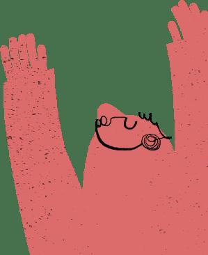 Coro di voci e mani bianche